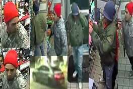 The Houston Police Department and Crime Stoppers are seeking the public's help in identifying these suspects in a Jan. 1, 2019, aggravated robbery at the Shell station at 14703 Memorial Drive.