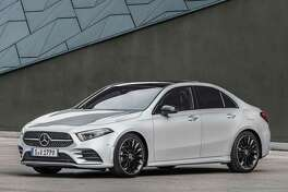 The optional AMG Line package includes chrome diamond block grille and special lower front fascia. The package upgrades to 18-inch wheels but 19s are also available. (Mercedes-Benz photo)