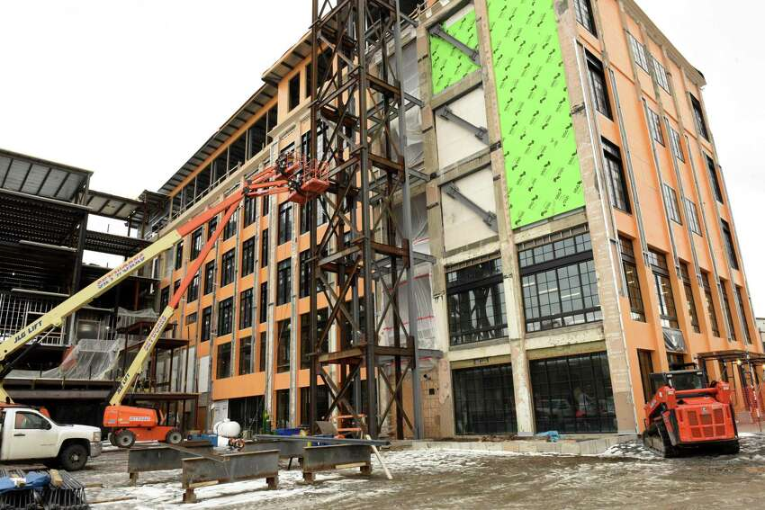 Exterior of the Frog Alley Brewing in the Mill Artisan District construction project on Friday, Feb. 22, 2019 in Schenectady, N.Y. (Lori Van Buren/Times Union)