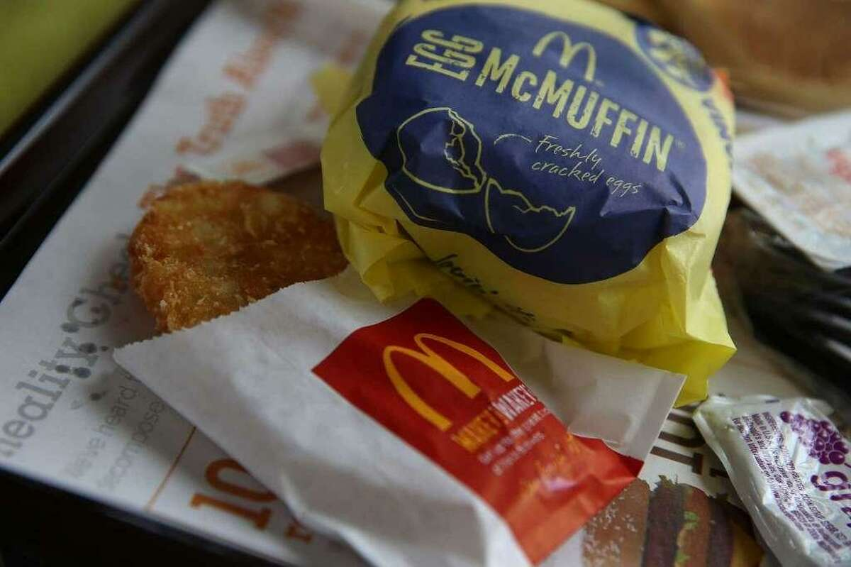 McDonald's breakfast items. A Connecticut man who claims police mistook McDonald's hash browns for a cellphone while charging him with distracted driving is now embroiled in a court battle to prove his innocence.
