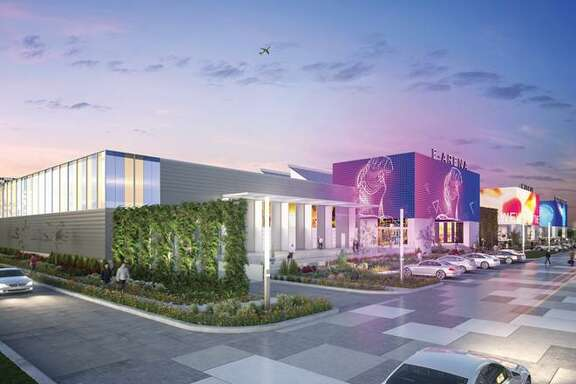 """Renderings show early, """"very conceptual"""" ideas for an Innovation Center at Port San Antonio, said president and CEOJim Perschbach."""
