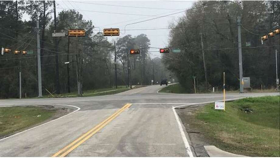 Construction at the intersection of Huffman Cleveland/Wolf Road and FM 2100 will begin in late February and is expected to be completed by June Photo: Harris County Precinct 2