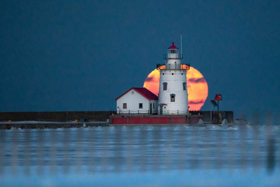 This scene is a moonrise from earlier this week at the Harbor Beach Lighthouse was fantastic. Photo: Tyler Leipprandt, Michigan Sky Media/Huron Daily Tribune