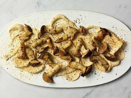 Recipe: How to make Lord Stanley's Grilled King Trumpet Mushrooms With Almond Dip