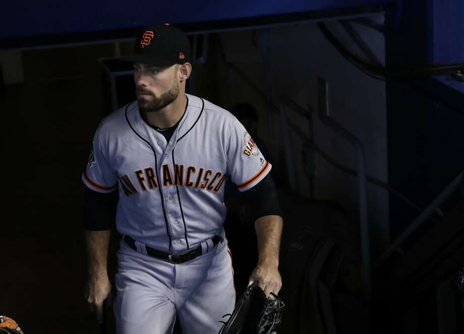 The San Francisco Giants are calling Mac Williamson back to the big leagues according to a news report. Photo: Lynne Sladky / Associated Press 2018
