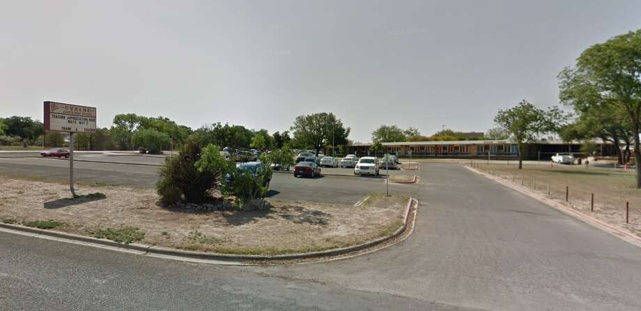 Morales Junior High School nurse Victoria Placencia, 24, was accused of sale, distribution or display of harmful material to a minor. Photo: Google Maps