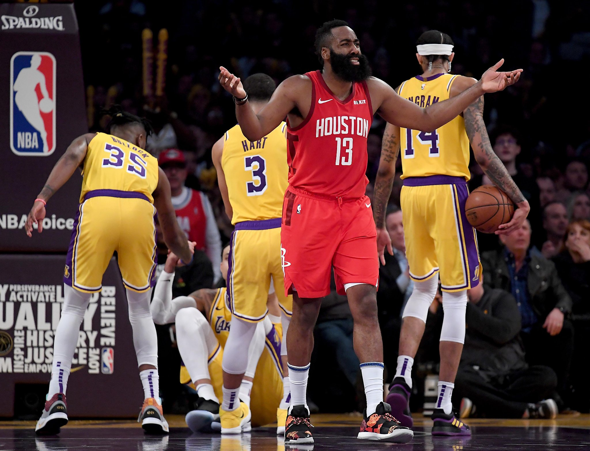 d95f81beaa40 Rockets  James Harden has a beef with referee Scott Foster ...