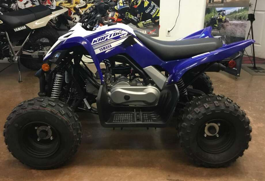Deputies responded to the 4700 block of North County Road 1117 at about 2 p.m. Feb. 6 in reference to a burglary. Complainant said he discovered the front door to his garage was open and damaged. A 2019 Yamaha Raptor 80 cc, blue and white in color, was stolen from the garage. Damages and value of the vehicle total more than $5,000. Photo: Midland Crime Stoppers