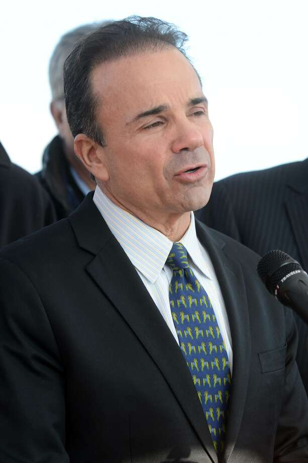 Mayor Joe Ganim speaks at a press conference at the old Congress Street bridge, in Bridgeport, Conn. Jan. 18, 2019. Ganim announced that plans to replace the bridge are moving forward. Photo: Ned Gerard / Hearst Connecticut Media / Connecticut Post