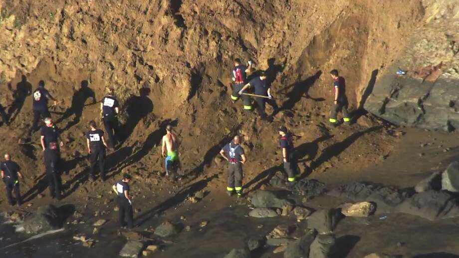 Woman rescued, another person reportedly missing after cliff collapse at Fort Funston