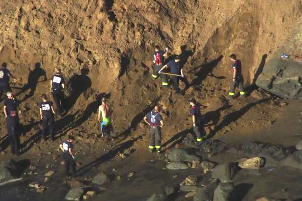 San Francisco firefighters were called out for a cliff rescue at Fort Funston on Feb. 22, 2019. San Francisco firefighters were called out for a cliff rescue at Fort Funston on Feb. 22, 2019.