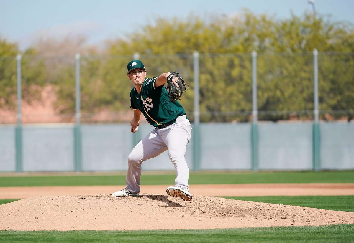 Parker Dunshee is quickly rising through the Oakland A's system and was one of the minor leaguers invited to the big-league camp in 2019.