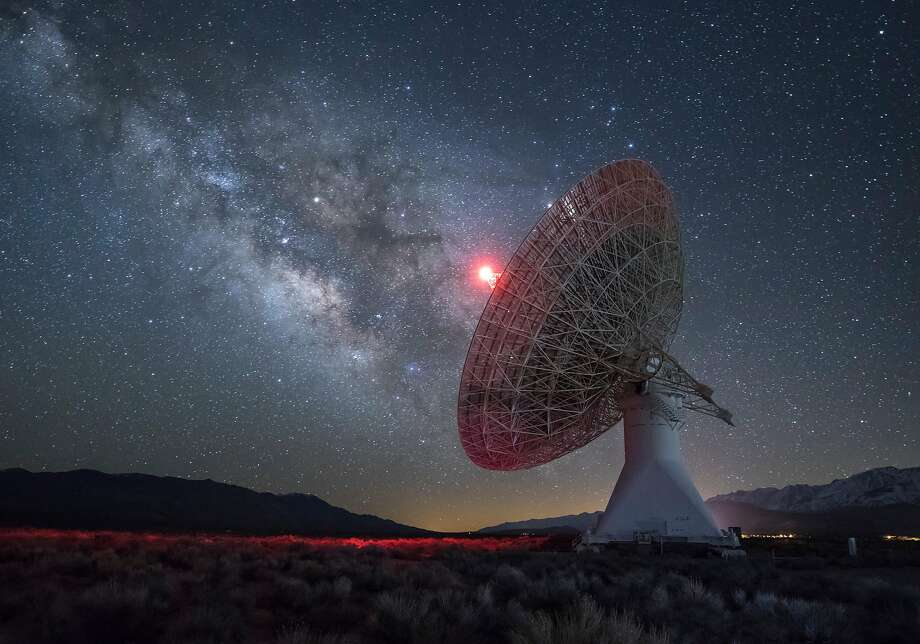 The Owens Valley Radio Observatory in Bishop (Inyo County) scans outer space for signs of life. Photo: Barcroft Media 2017