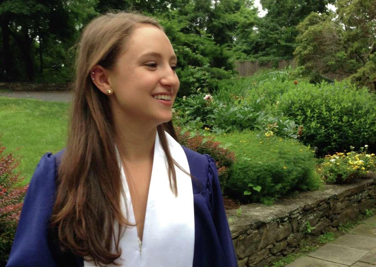 Rachel Doran on her graduation day from Staples High School.