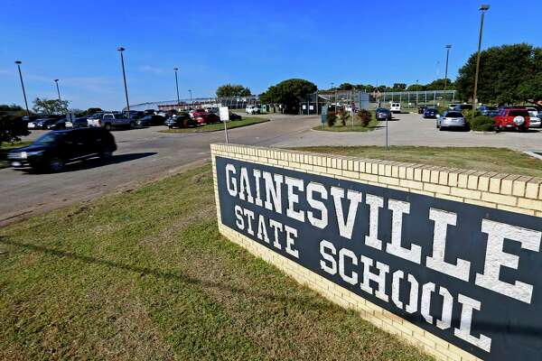 This file photo from Oct. 28, 2016 shows the entrance to the Gainesville State School north of Dallas.