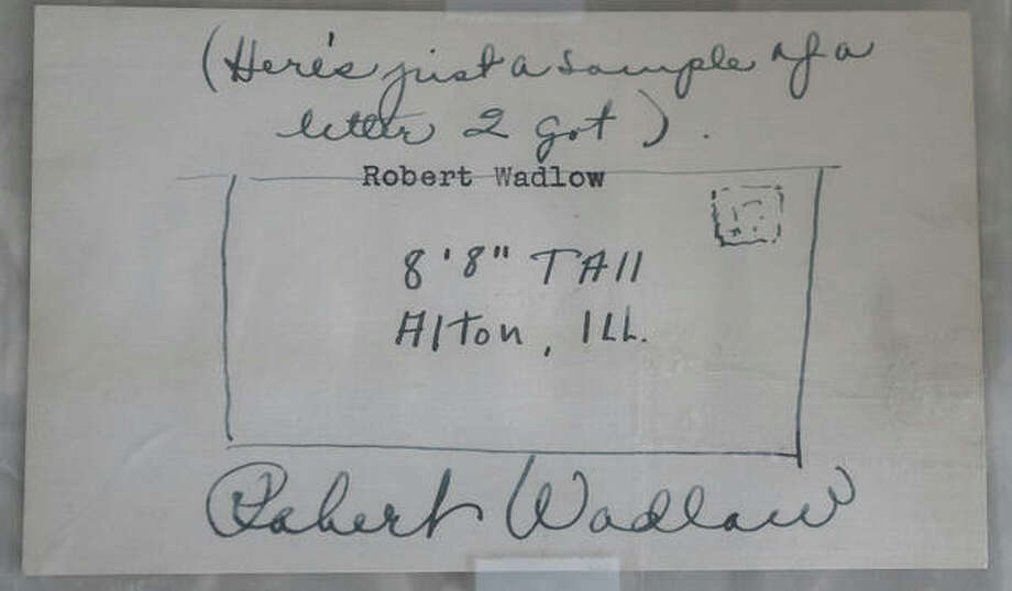 This signed sketch from Robert Wadlow joking about his fanmail was sold out of upstate New York last year. Photo: Nathan Woodside | The Telegraph