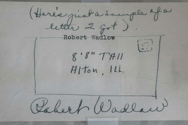 This signed sketch from Robert Wadlow joking about his fanmail was sold out of upstate New York last year.