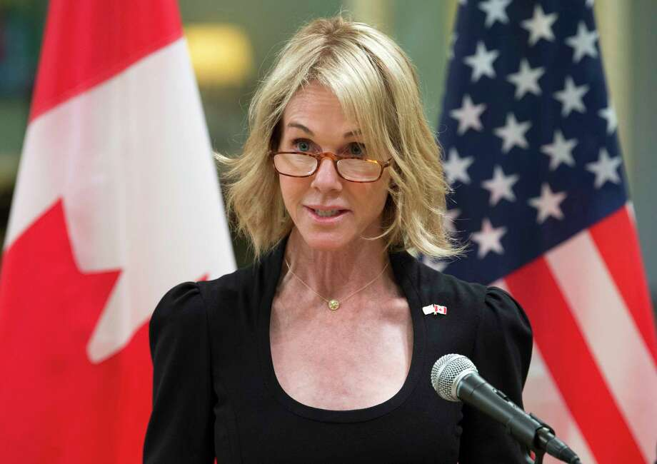 FILE - In this Oct. 23, 2017, file photo, United States Ambassador to Canada Kelly Knight Craft speaks after presenting her credentials during a ceremony at Rideau Hall in Ottawa. (Adrian Wyld/The Canadian Press via AP) Photo: Adrian Wyld / The Canadian Press