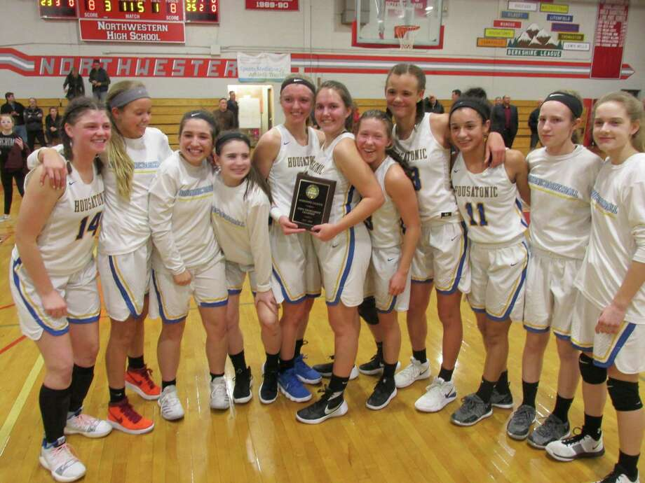 Housatonic won their first Berkshire League Tournament girls basketball title in 21 years Friday night with a win over Northwestern at Northwestern High School. Photo: Peter Wallace / For Hearst Connecticut Media