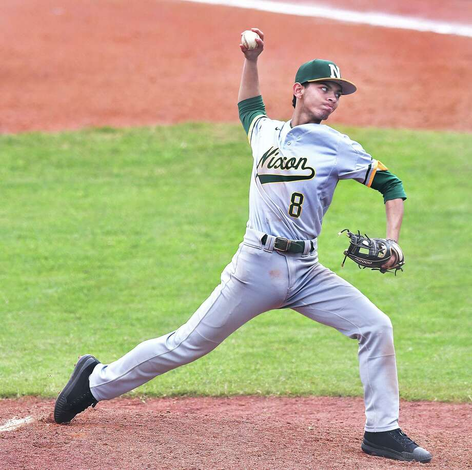 TJ Rogerio earned the win in relief Friday as Nixon beat Dobie 8-6 at Ochoa Field improving to 3-0 at the Border Olympics. Photo: Cuate Santos /Laredo Morning Morning / Laredo Morning Times