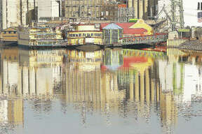 The colorful Argosy Casino is reflected in the still waters of a very calm Mississippi River this week. It doesn't happen often, but a calm river and no wind sometimes gives the river a mirror effect.