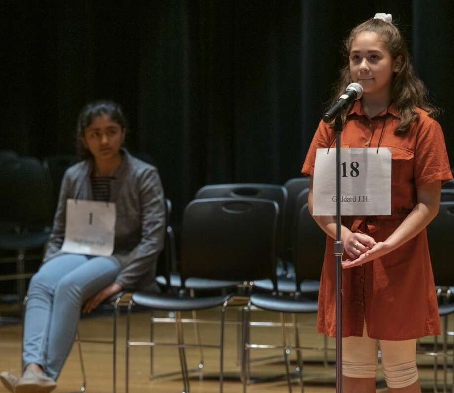 FILE PHOTO: Keren Ortega from Goddard Junior High will be competing  for a second year at the annual Midland Reporter-Telegram Regional Spelling Bee. Photo: Tim Fischer