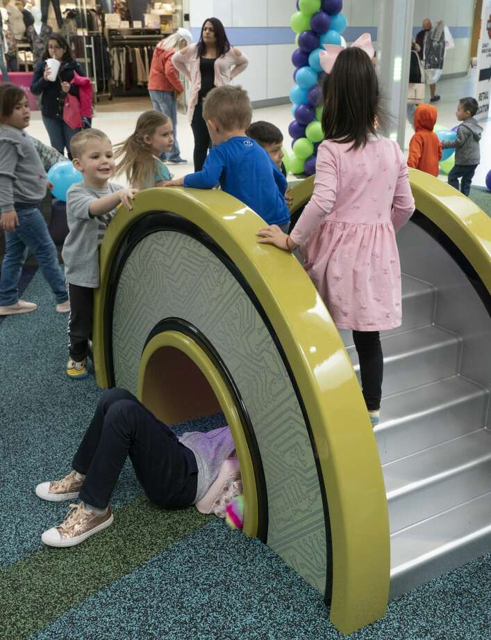 Children play on some of the climbing displays  02/23/2019 in the new play area in Midland Park Mall near JCPenny. Tim Fischer/Reporter-Telegram Photo: Tim Fischer