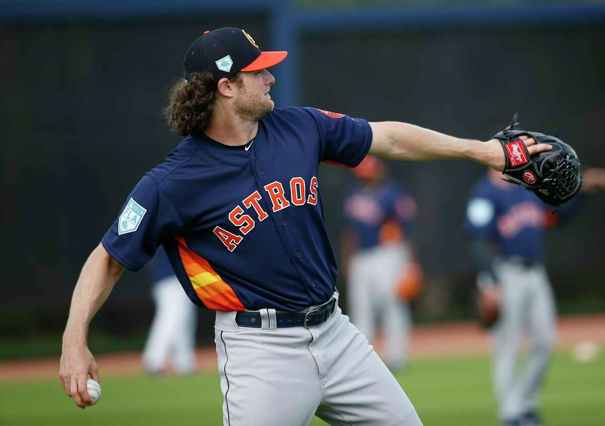 PHOTOS: Houston Astros top prospects in 2019 Houston Astros right handed pitcher Gerrit Cole (45) throws during throwing program at Fitteam Ballpark of The Palm Beaches on Day 10 of spring training on Saturday, Feb. 23, 2019, in West Palm Beach. >>>A look at the Houston Astros' top prospects heading into the 2019 season ...