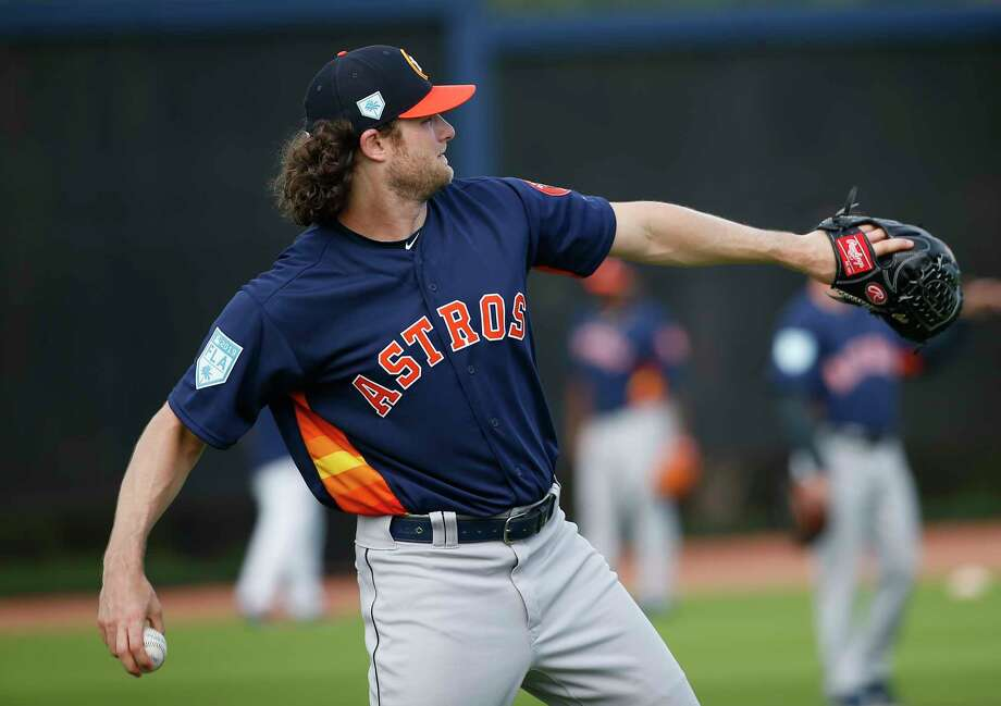 PHOTOS: Houston Astros top prospects in 2019 Houston Astros right handed pitcher Gerrit Cole (45) throws during throwing program at Fitteam Ballpark of The Palm Beaches on Day 10 of spring training on Saturday, Feb. 23, 2019, in West Palm Beach. >>>A look at the Houston Astros' top prospects heading into the 2019 season ... Photo: Yi-Chin Lee, Staff Photographer / © 2019 Houston Chronicle