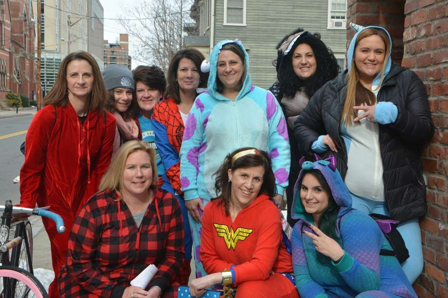 The New Haven Onesie Bar Crawl was held on February 23, 3019. Participants donned their best onesie pajamas and enjoyed drink specials at participating bars, Were you SEEN? Photo: Vic Eng / Hearst Connecticut Media Group