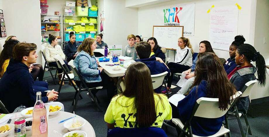 A meeting session of the Stamford-based agency, Kids Helping Kids. Photo: Contributed Photo / Stamford Advocate  contributed