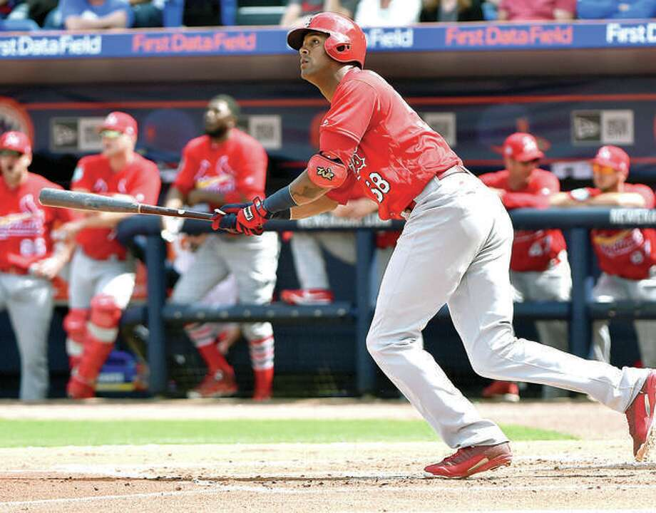 St. Louis left fielder Jose Martinez has signed a $3.25 million, two-year contract to remain with the Cardinals. Photo: AP Photo