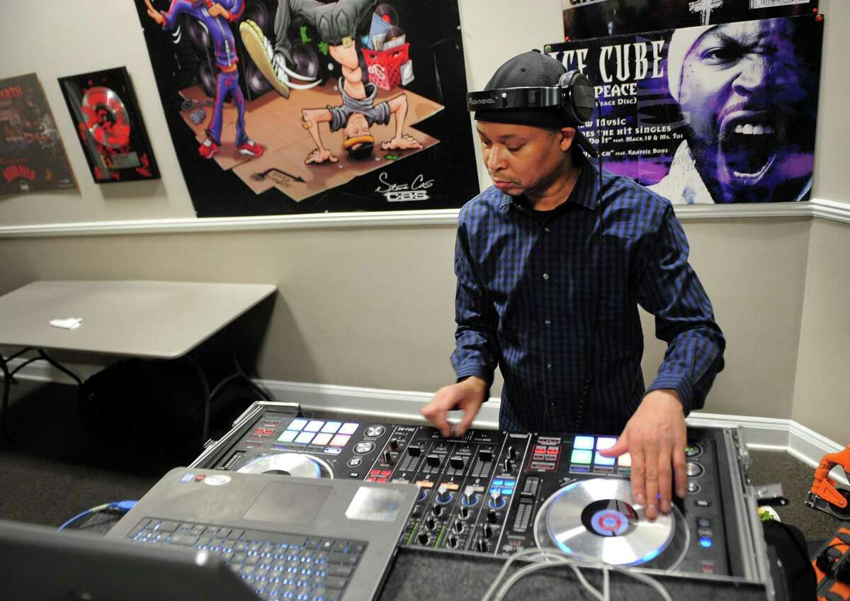 The Connecticut Against Violence (CAV) group hosts the fourth annual A Hip Hop Expression of Black History at the Margaret E. Morton Goverment Center in Bridgeport, Conn., on Saturday, Feb. 23, 2019. Members of the local rap and hip hop music scene as well as members of the Sugar Hill Gang were on hand to discuss hip hop and gun violence. Other activities included graffiti artist ES who created a CAV mural outside the center, food provided by Uncle Joe's, a photo exhibit and award presentations.