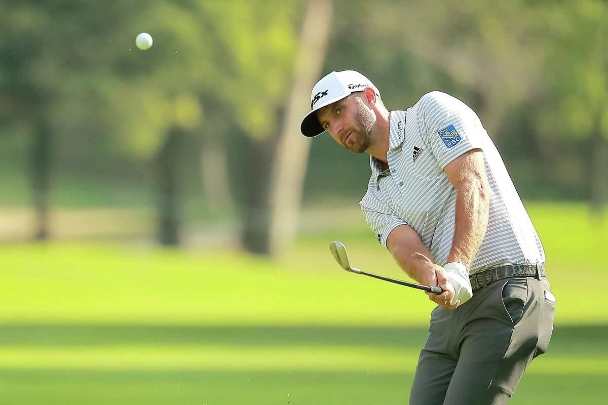 MEXICO CITY, MEXICO - FEBRUARY 23: Dustin Johnson of the United States plays a shot on the 14th hole during the third round of World Golf Championships-Mexico Championship at Club de Golf Chapultepec on February 23, 2019 in Mexico City, Mexico. (Photo by Hector Vivas/Getty Images)