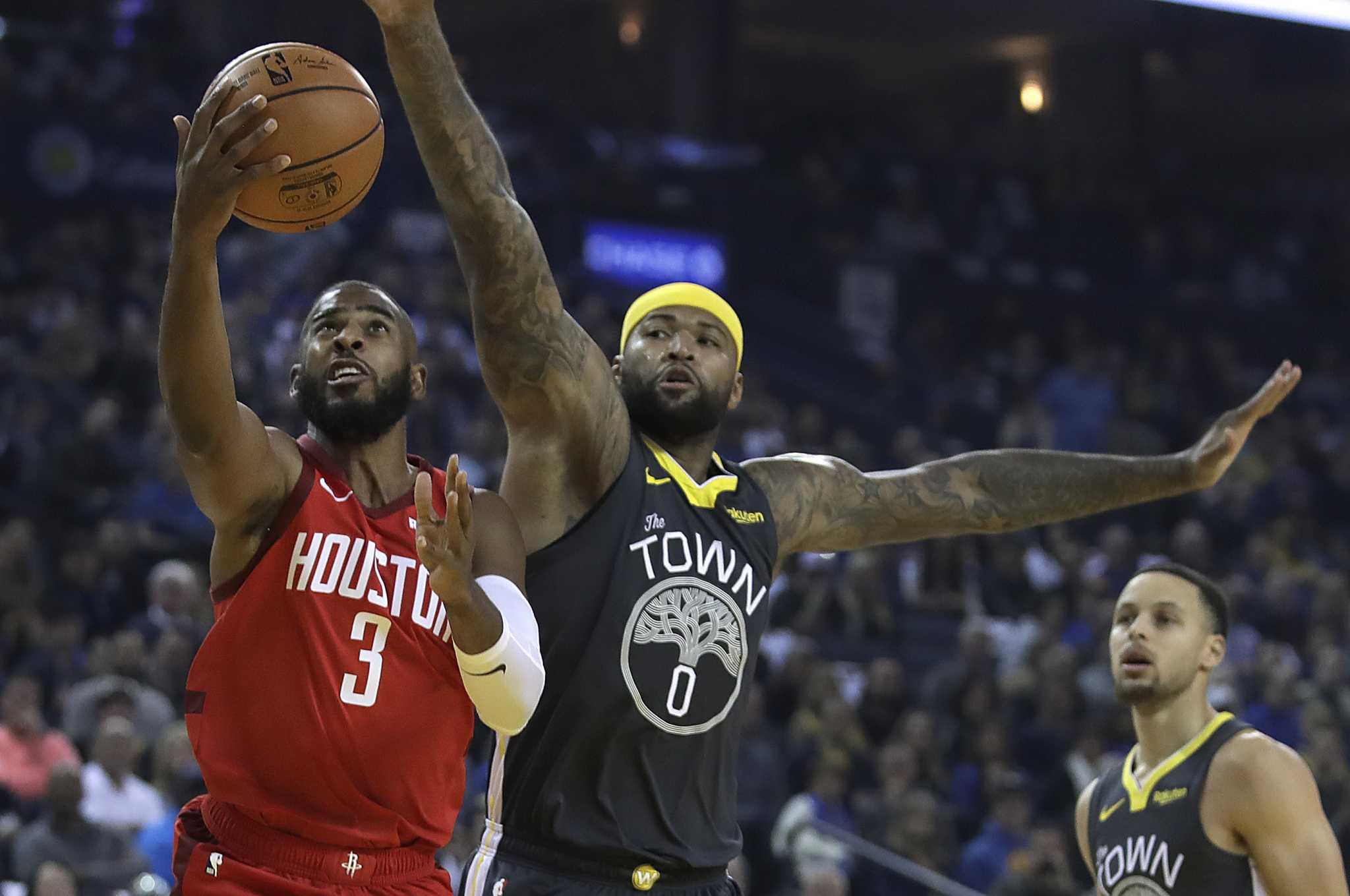 ccacf7fceba Rockets stun Warriors behind Chris Paul
