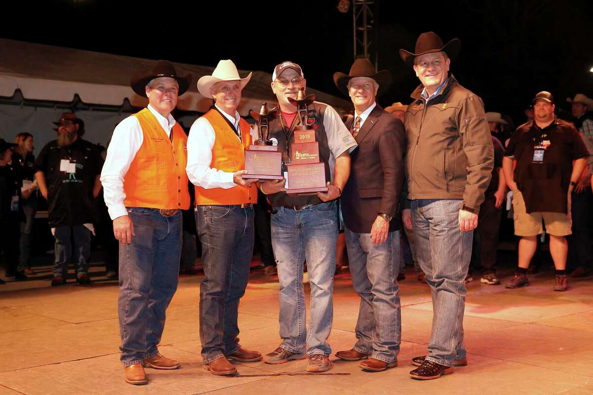 Operation BBQ Relief won the Grand Champion Overall trophy at the 2019 Houston Livestock Show and Rodeo World's Championship Bar-B-Que Contest.