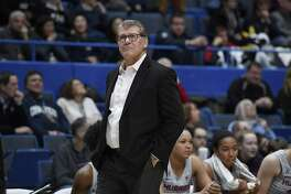 UConn coach Geno Auriemma still vividly remembers the Huskies first NCAA tournament appearance against LaSalle in 1989.