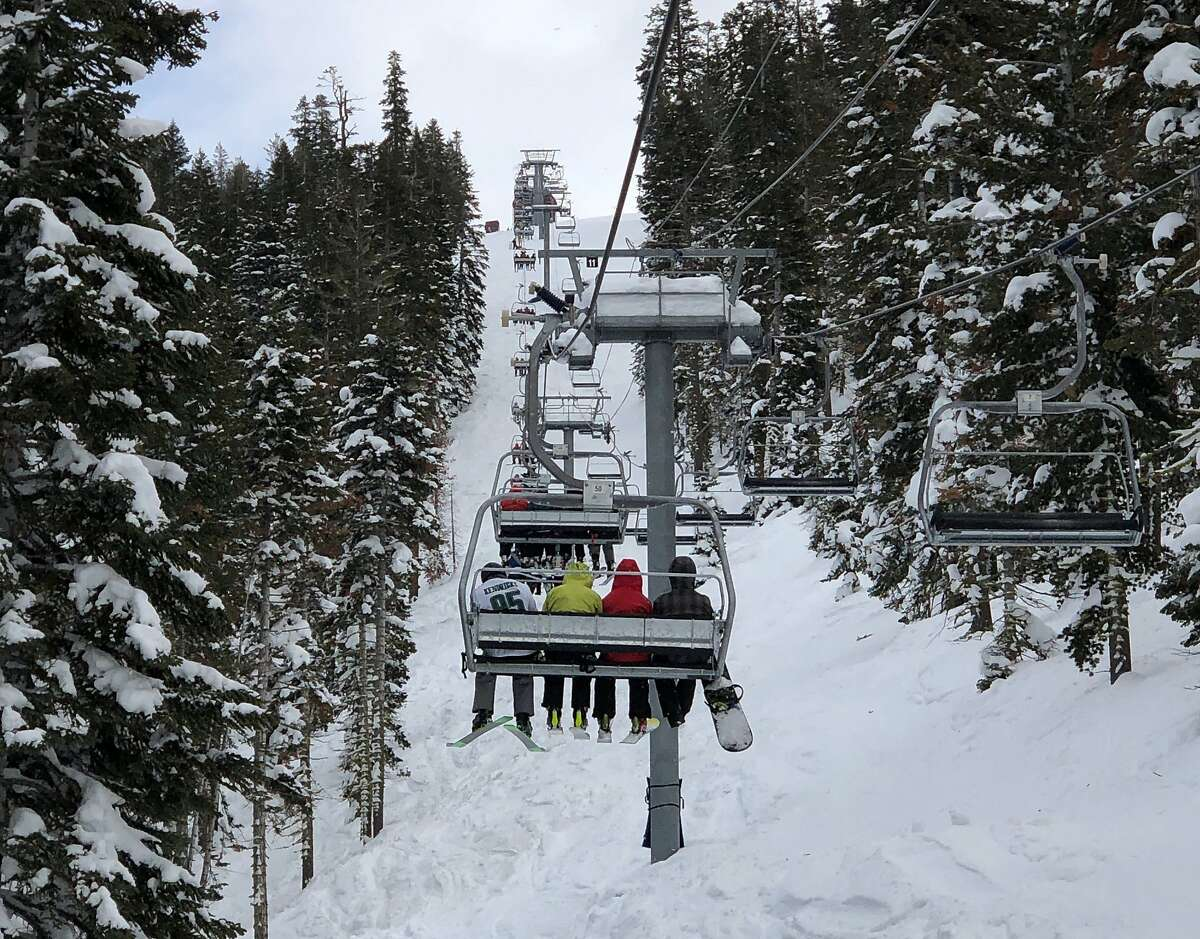"""A chairlift at the Northstar California Resort in Truckee broke down Sunday, stranding skiers for several hours. Crews were called in from the Heavenly and Kirkwood resorts to """"rope people down."""""""