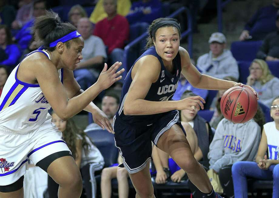 UConn's Napheesa Collier was named the AAC Player and Defensive Player of the Year on Friday. Photo: Dave Crenshaw / Associated Press / Copyright 2019 The Associated Press. All rights reserved.