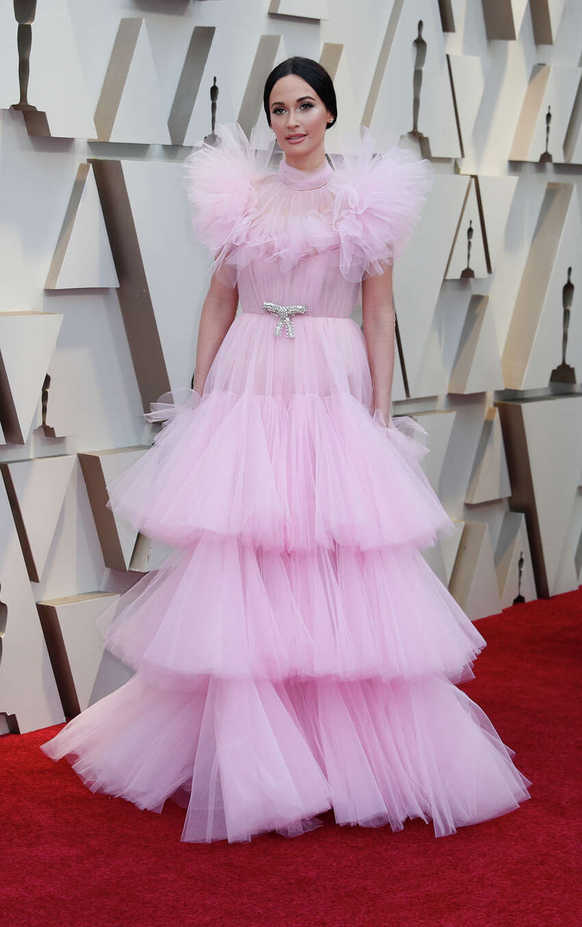 BEST: East Texas native Kacey Musgraves went girly in a soft-pink Giambattista Valli tulle gown.