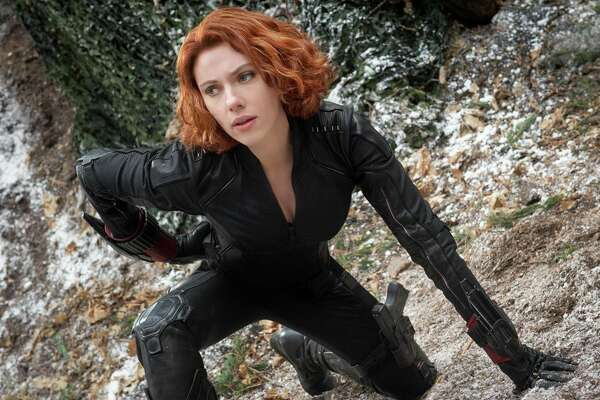 She may not have heat vision or super strength, but go ahead. Try to kill lethal super-spy Natasha Romanoff, aka Black Widow (Scarlett Johansson). We'll be waiting from a distance. A very, very safe distance.