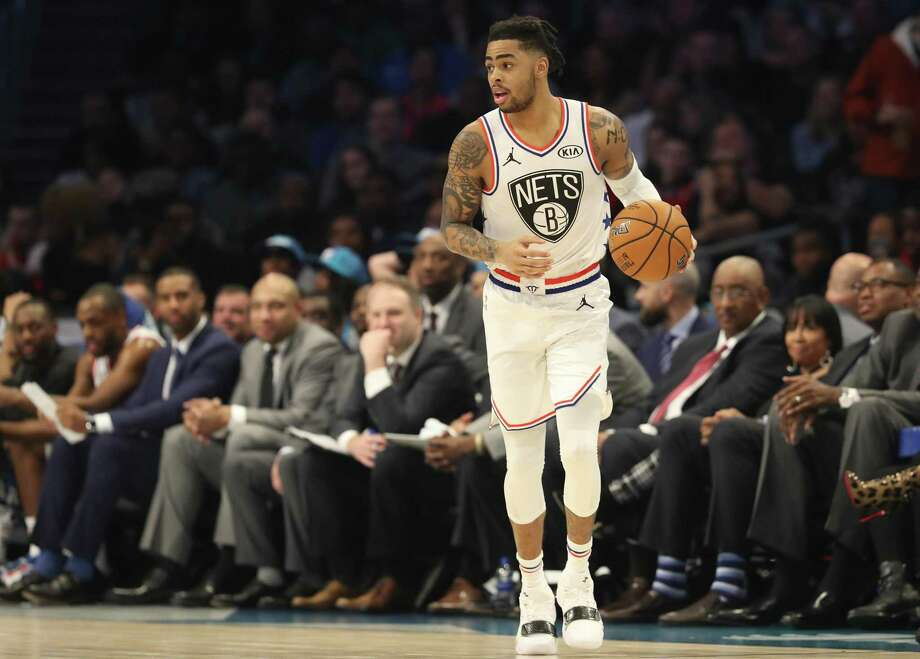 Nets All-Star D'Angelo Russell is coming a career- high tying 40 points in a win over the Hornets on Saturday. Photo: Streeter Lecka / Getty Images / 2019 Getty Images