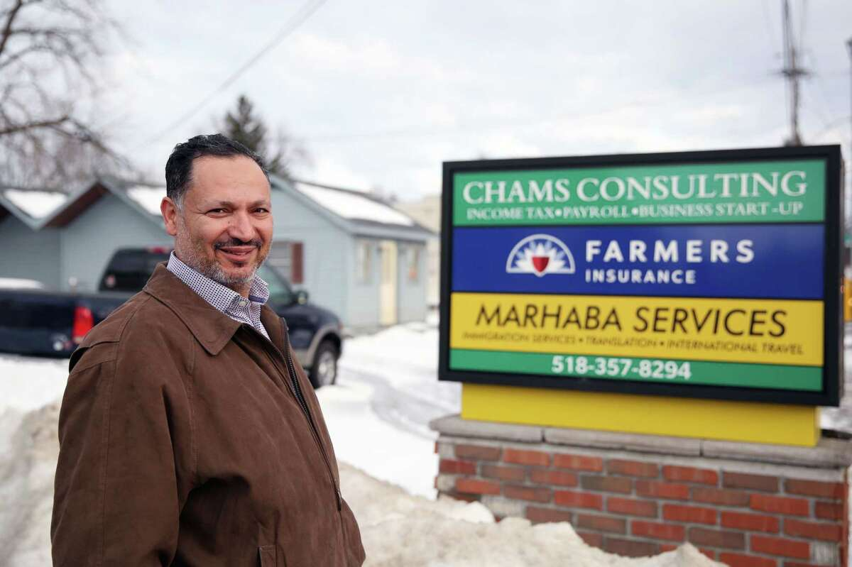 $647 million was paid in taxes in 2016 by immigrants in the Capital Region, according to the New American Economy.  Marhaba Services owner Nabeel Shohatee stands for a portrait outside of his office Friday, Feb. 15, 2019 at Marhaba Services in Schenectady, NY. (Phoebe Sheehan/Times Union)