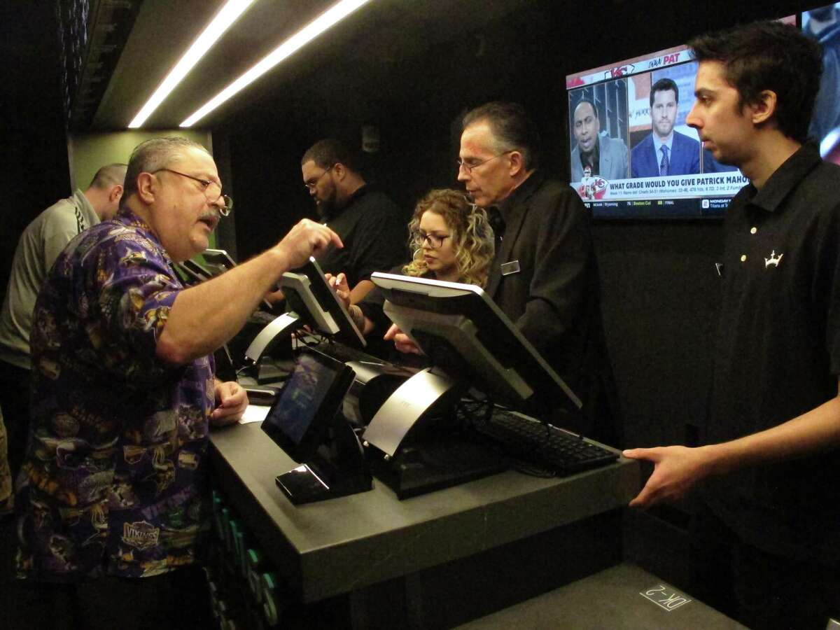 A gambler places a sports bet last year at Resorts Casino in Atlantic City, N.J.