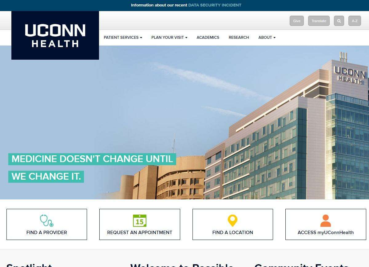Hackers may have gotten access to Social Security numbers and other personal information of patients at UConn Health, with the hospital having hired a forensic security firm to determine the extent of the breach and is undertaking additional steps to better safeguard data.