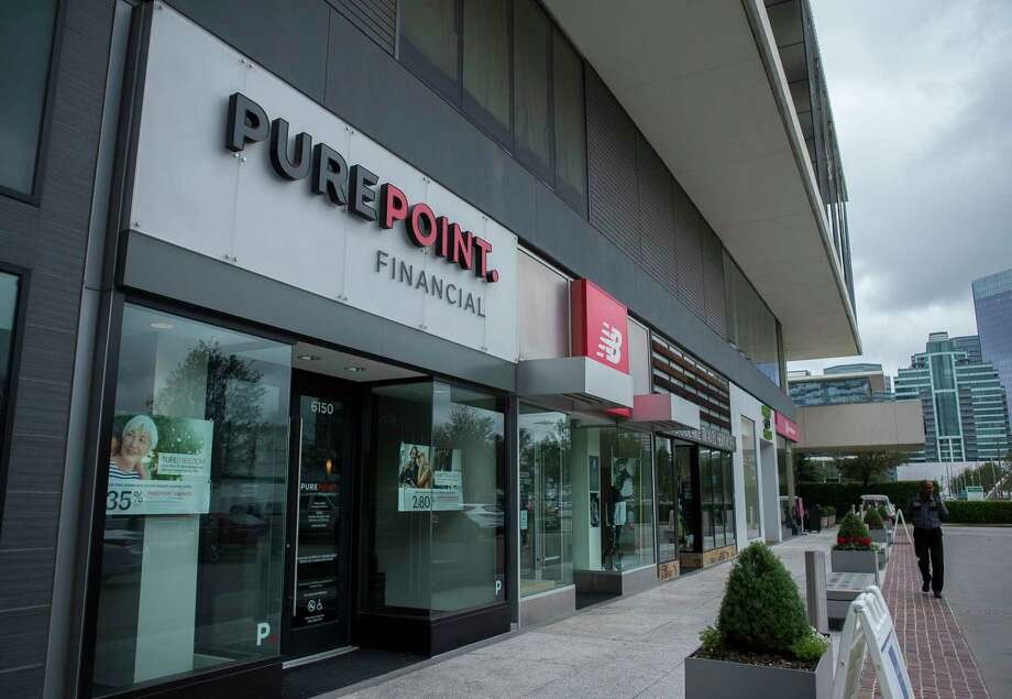 PurePoint Financial Center in the Galleria area of Houston. The bank location does not hold any cash, does not retain tellers, doesn't offer checking accounts and doesn't make loans. Photo: Mark Mulligan, Staff Photographer / © 2019 Mark Mulligan / Houston Chronicle