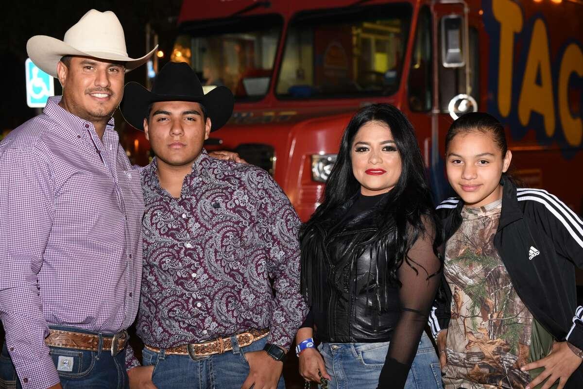 Salvador Rodriguez, Carlos Diaz, Cynthia Aranda and Cynthia Diaz pose for a photo during the WBCA Jalapeno Festival.