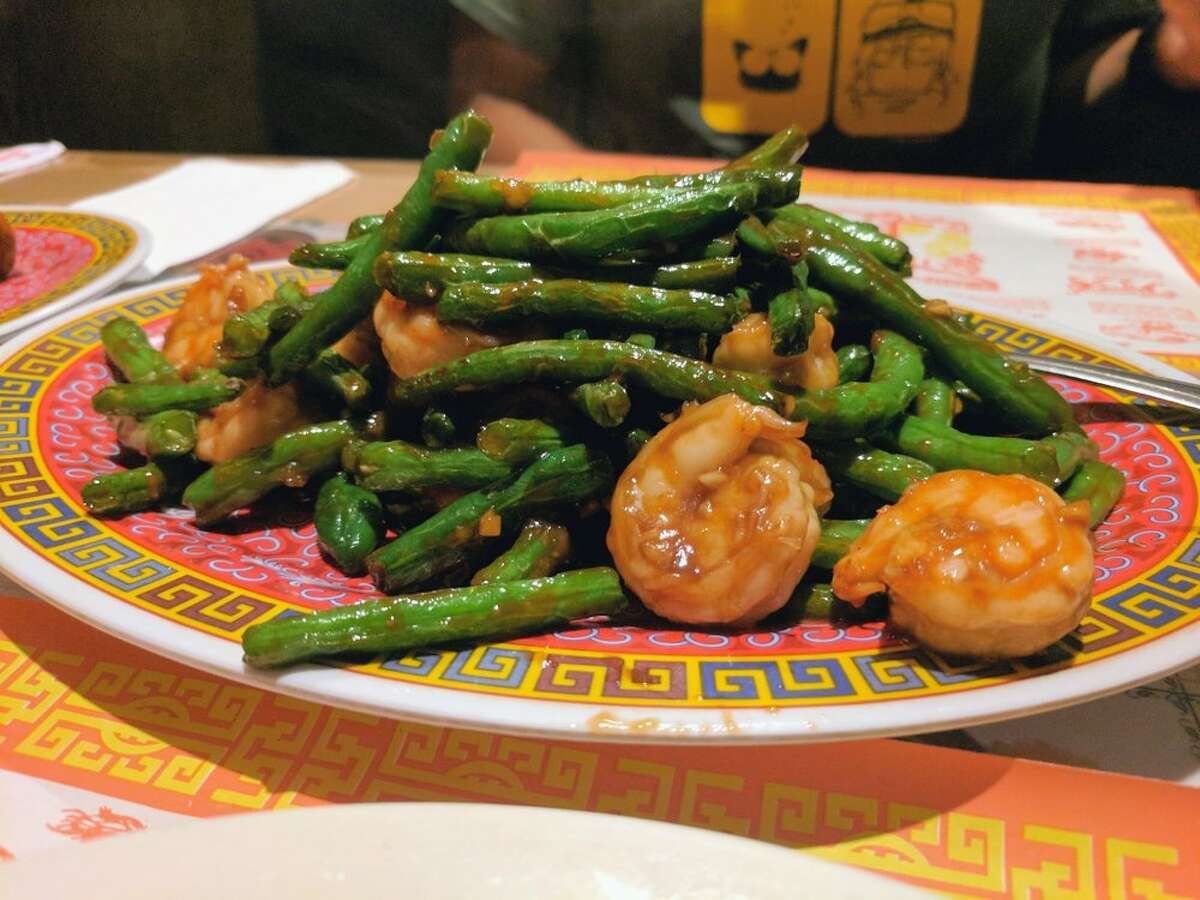A shrimp dish at Wing's in San Jose.