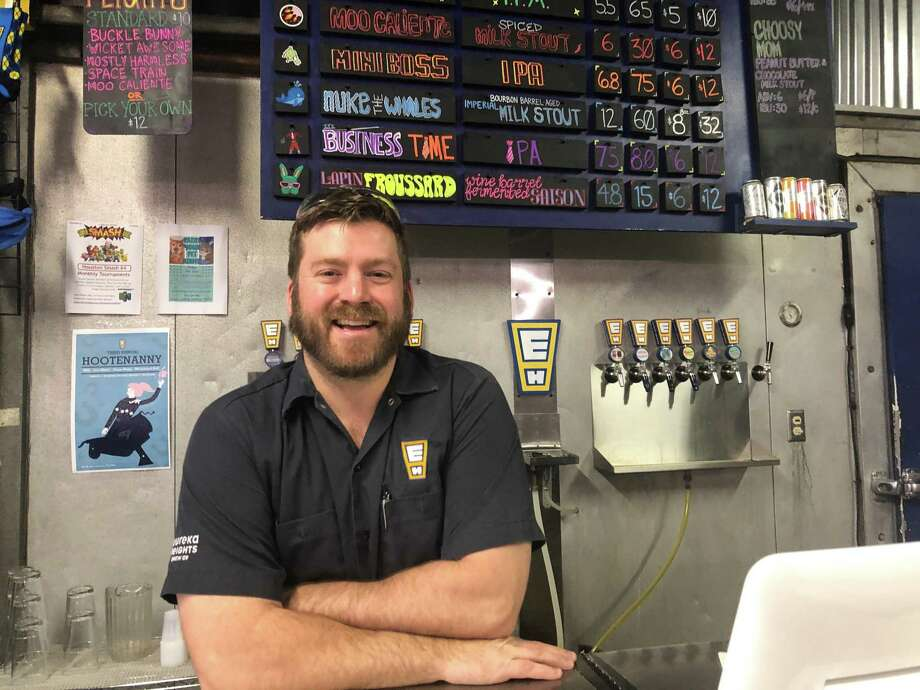 Casey Motes is one of six co-founders of the Eureka Heights Brewing Company. Located in the Heights at 941 W. 18th St., Eureka Heights brews a variety of draught beers. Photo: Tracy Maness