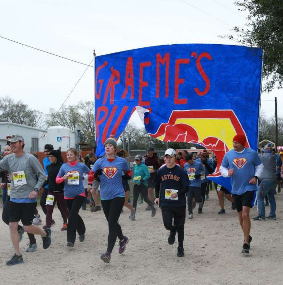 Chilly weather didn't discourage a record field of participants in the fourth annual Graeme's Run on Feb. 9, 2019, in Katy. The event raised $93,000, $30,000 more than the previous year. Photo: Mama Bear Photography / Mama Bear Photography